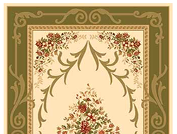 KAMEA carving D142 CREAM-GREEN
