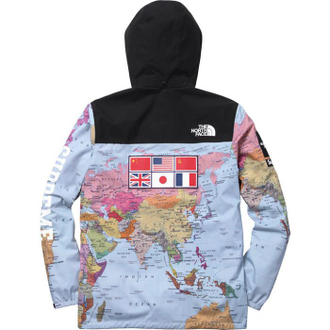 Куртка Supreme x North Face Blue Map