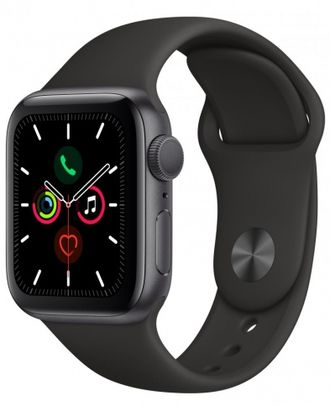 Apple Watch Series 5 44mm Space Gray Aluminium / Black Sport Band