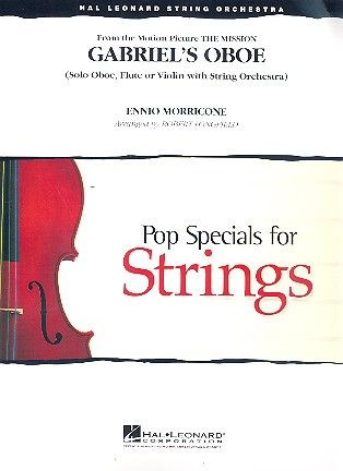 Morricone, Ennio Gabriels Oboe: for oboe (flute/violin) and string orchestra score and parts