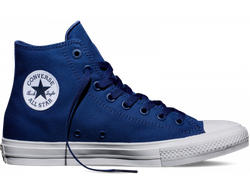 Мужские кеды converse chuck taylor all stars ii high синего цвета