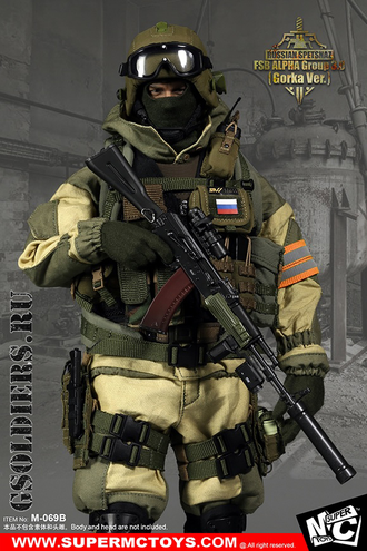 "Спецназ ""Альфа"" - Комплект экипировки 1/6 Russian Spetsnaz - FSB Alfa Group 3.0 Gorka Ver. (M-069 B) - SUPER MC TOYS (БЕЗ ТЕЛА И ГОЛОВЫ)"