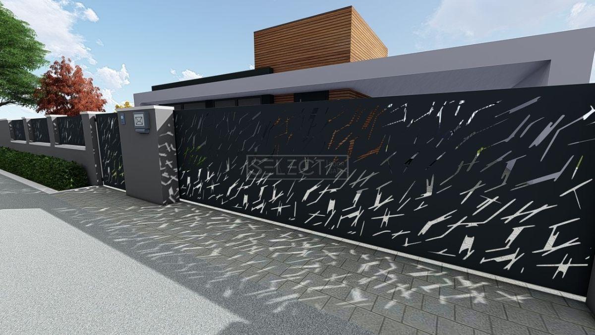 уличные откатные ворота - оцинкованная сталь - производитель select