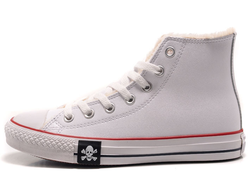 converse all star winter leather white skull 01