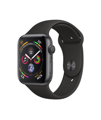 Apple Watch Series 4 44mm Space Gray with Black Sport Band