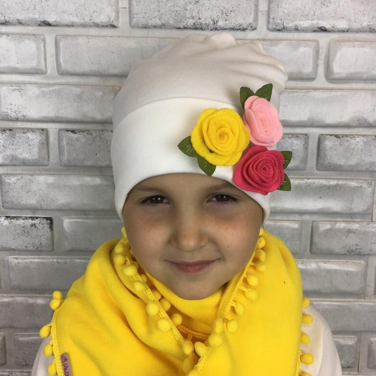Арт. 901 Комплект утепленный с шарфиком для девочек