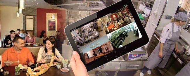 Установка видеонаблюдения в ресторане, кафе