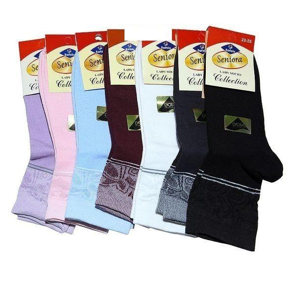 Senior носки женские хлопок с лайкрой Арт. Ж-50, 10 пар (1 упаковка)
