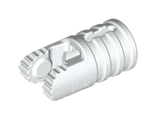 Hinge Cylinder 1 x 2 Locking with 2 Fingers, 9 Teeth and Axle Hole on Ends with Slots, White (30553 / 6194850)