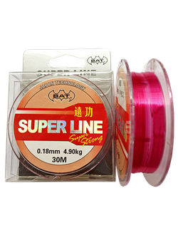 Леска BAT SUPER LINE RED 30м (монофил)
