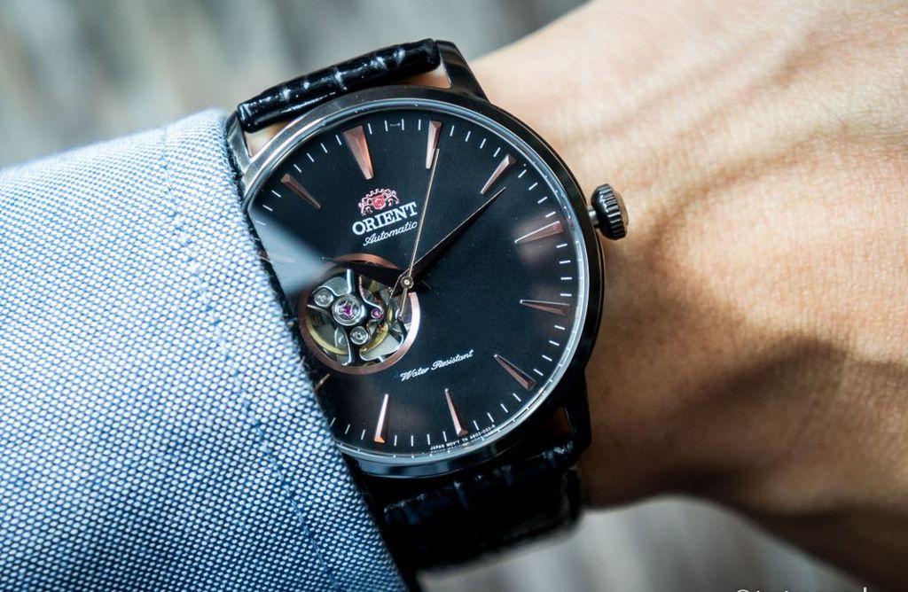 Мужские японские механические наручные часы Orient AG02001B купить в ... 6a6620dd2a396