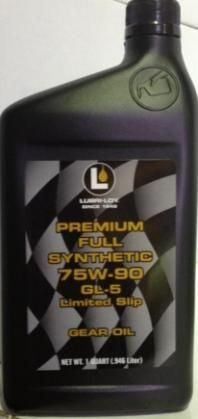 Lubri-Loy Premium Full Synthetic 75W90 GL-5 Limited Slip (946 мл)