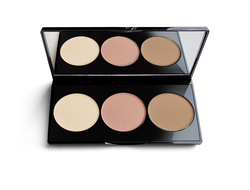 Контурная палитра 3в1 COUNTOR pallete trio highlighter-blush-bronzer Paese