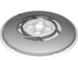 Dish 6 x 6 Inverted Radar - Solid Studs with Asymmetrical Clock Face Pattern, Trans-Clear (44375bpb11 / 6266955)