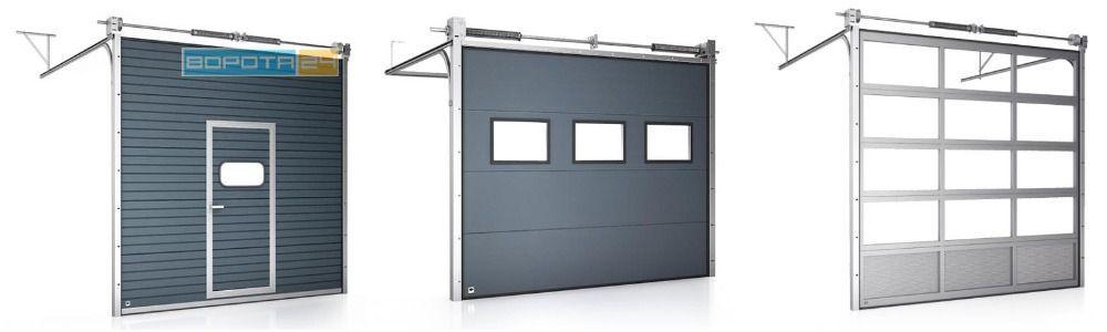 изготовление и установка ворот - складывающиеся системы из секций - сэндвич панелей