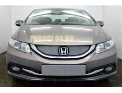 Защита радиатора Honda Civic IX (рестайлинг) 2013-2017 chrome