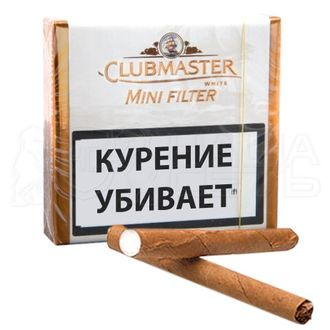 Сигариллы Clubmaster Mini White Filter*20*5*20