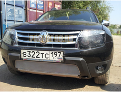 Защита радиатора Renault Duster 2011-2014 chrome PREMIUM