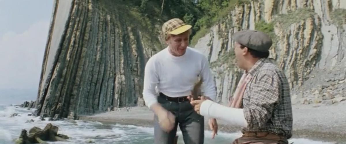 Где снимали рыбалку в бриллиантовую руку