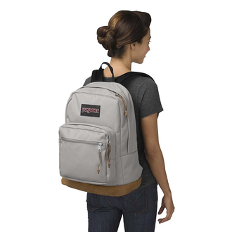 Jansport Right Pack Grey Rabbit на девушке