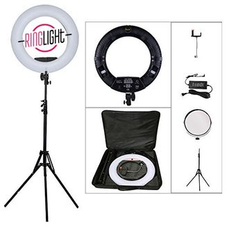 Кольцевая лампа Ringlight 480 LCD + PowerBank SENSOCASE