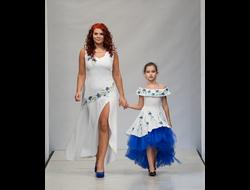6ebb7e8d972c227 Платье из белого льна с вышивкой Наталья Гайдаржи АРТ - ПВБ1003/НА ЗАКАЗ