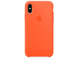 Чехол-накладка Apple Silicone Case iPhone Orange