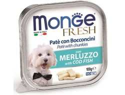 Консервы для собак MONGE DOG FRESH, треска - 100 грамм