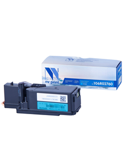 Картридж NV-Print 106R02760 для Xerox Phaser 6020/ 6022, WorkCentre 6025/ 6027 (1000стр.) Голубой (Cyan)