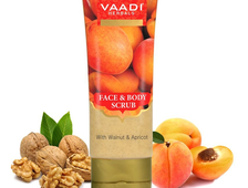 Скраб для лица и тела Грецкий орех и Абрикос (Face & Body Scrub with Walnut & Apricot)  Vaadi Herbals - 110 гр. (Индия)