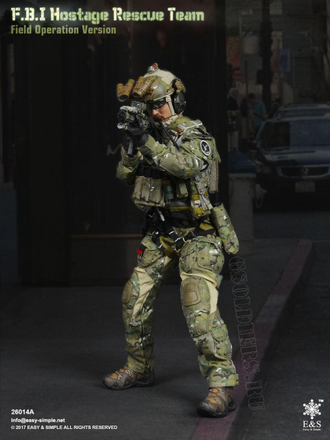 КОЛЛЕКЦИОННАЯ ФИГУРКА 1/6 Friday FBI Hostage Rescue Team (E&S 26014) - Easy&Simple