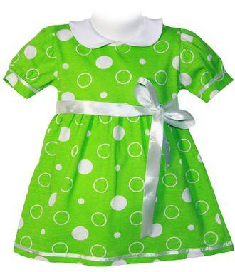 Платье для девочки (Артикул 579-013) цвет зелёный