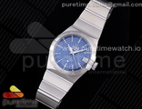 Constellation 38mm SS VSF 1:1 Best Edition BlueTextured Dial on SS Bracelet A8500