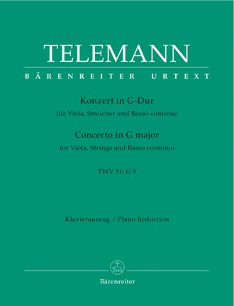 Telemann, Concerto for Viola and Orchestra G major TWV 51:G9