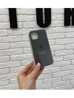 ЧЕХОЛ APPLE SILICONE CASE ДЛЯ IPHONE 12/12 PRO ГРафит(серо-черный)