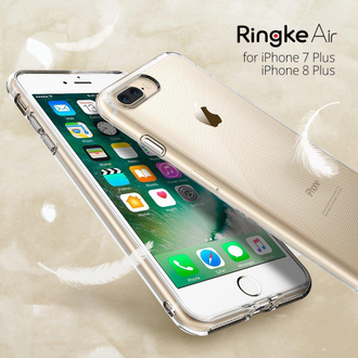 Чехол на Apple iPhone 7 Plus и 8 Plus, Ringke серия Air, цвет темный (Smoke Black)