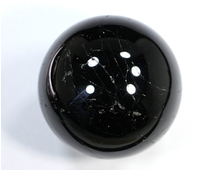 Шар Турмалин черный (Шерл), Бразилия (47 мм, 170 г) №18832