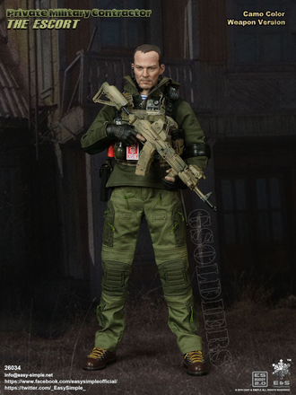 Русский наемник ФИГУРКА 1/6 scale Private Military Contractor The Escort (26034) Easy&Simple
