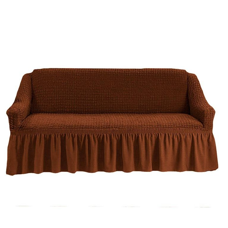 Чехол на диван, Темно-рыжий 209