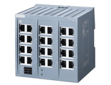6GK5124-0BA00-2AB2 SCALANCE XB124 unmanaged IE switch, 24x 10/100 Mbit/s RJ45 ports; for setting up small star and line topologies; LED diagnostics