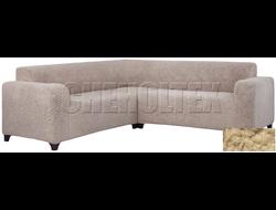 Чехол Велсофт на угловой диван, цвет Бежевый