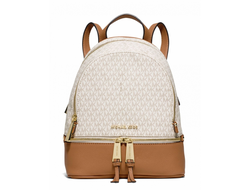 Рюкзак Michael Kors Rhea small backpack vanilla acorn