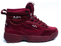 Кроссовки FILA DISRUPTOR 2 HIGH BORDO с мехом