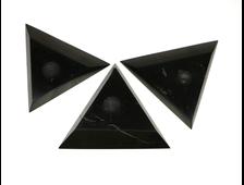 Подставка Шунгит треугольник, под шар или яйцо, в ассортименте, Карелия (70-75 мм, высота: 10 мм, 38-40 г) №22861