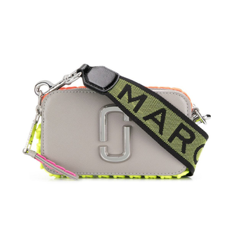 MARC JACOBS Whipstitched Snapshot Small Camera Bag Grey