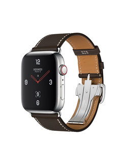 Купить Apple Watch Hermès S4 44мм with single tour deployment buckle ebene barenia в iStore-Moscow
