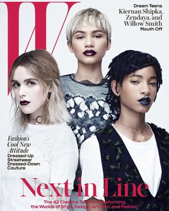 W magazine April 2016 Kiernan Shipka, Zendaya, Willow Smith Cover ИНОСТРАННЫЕ ЖУРНАЛЫ PHOTO FASHION