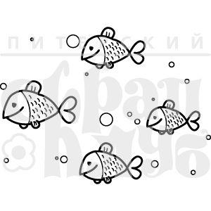 Фоновый штамп с рубками и пузыриками