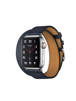 Купить Apple Watch Hermès S4 40мм with indigo swift leather double tour в iStore-Moscow