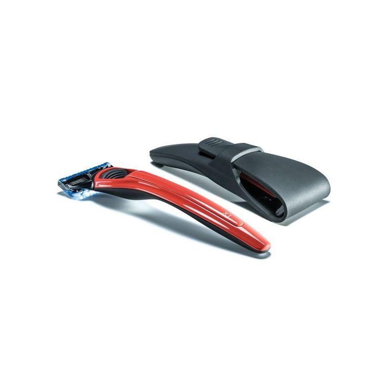 Подарочный набор Bolin Webb X1, бритва X1 красная, Gillette Fusion, дорожный чехол